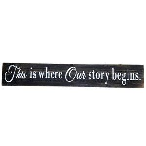 Wall Art - 🆕This is where Our story begins Hanging Wall Sign